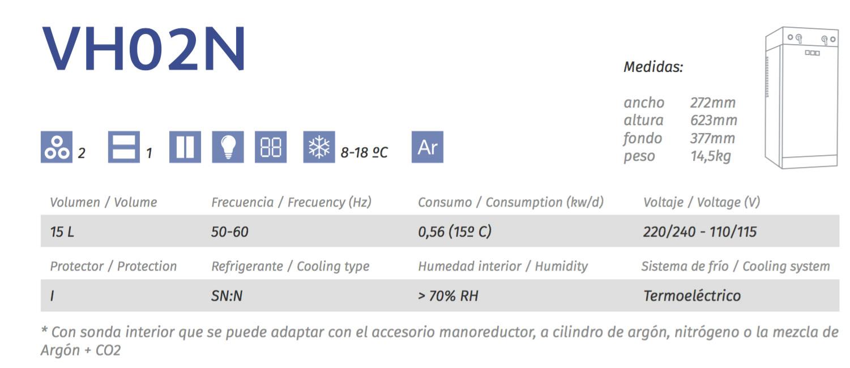 caracteristicas enfriador de botellas cavanova vh02n